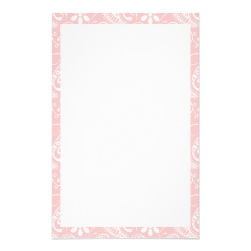 Baby Pink Paisley Personalized Stationery