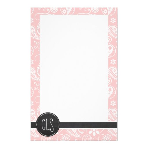 Baby Pink Paisley; Vintage Chalkboard look Stationery