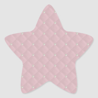 Baby Pink Pearl Stud Quilted Star Stickers