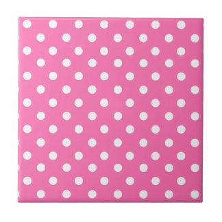 Baby pink polka dot pattern tile