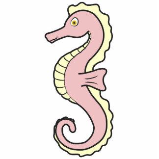 Baby Pink Seahorse Photo Sculpture Button