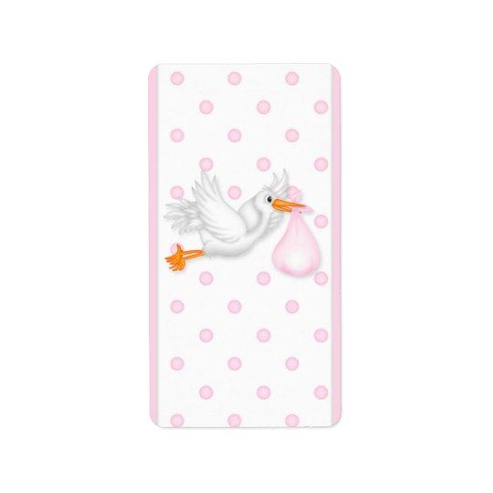 Baby Pink Stork Hersheys Miniature Candy bar wrap Label