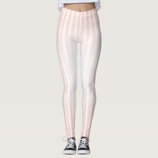 Baby Pink Stripes Leggings
