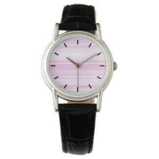 Baby pink stripes wristwatches