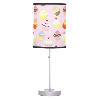 Baby Pink Valentines Cup Cakes Table Lamp