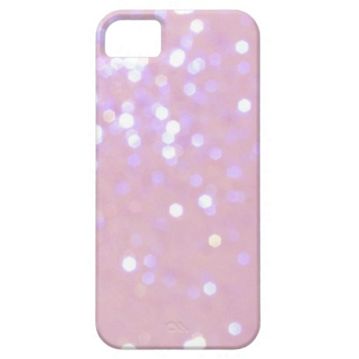 Baby Pink/White Glitter iPhone 5 Cover