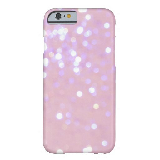 Baby Pink/White Glitter iPhone 6 case