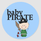 Baby Pirate With Sword - Boy Tshirts and Gifts Classic Round Sticker