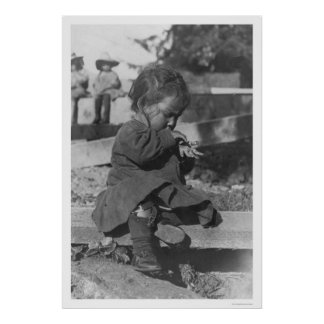 Baby Playing in Nome 1906 Poster