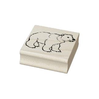 baby polar bear illustration art stamp