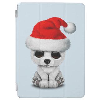 Baby Polar Bear Wearing a Santa Hat iPad Air Cover