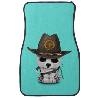 Baby Polar Bear Zombie Hunter Car Mat