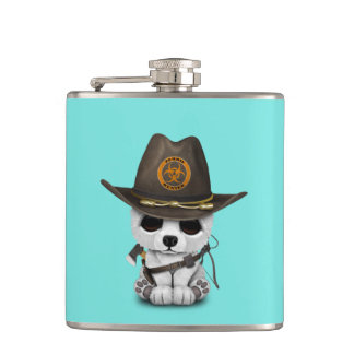 Baby Polar Bear Zombie Hunter Hip Flask