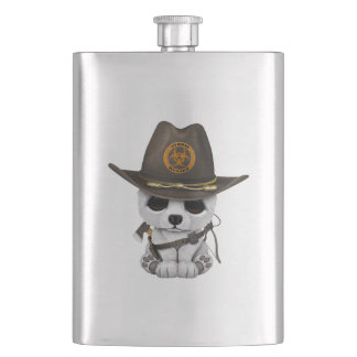 Baby Polar Bear Zombie Hunter Hip Flask