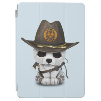 Baby Polar Bear Zombie Hunter iPad Air Cover