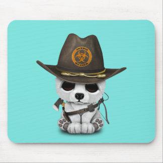 Baby Polar Bear Zombie Hunter Mouse Pad