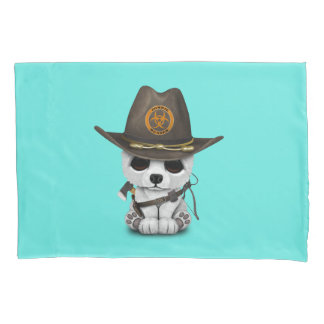 Baby Polar Bear Zombie Hunter Pillowcase