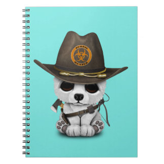 Baby Polar Bear Zombie Hunter Spiral Notebook