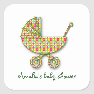 baby polka dot square sticker