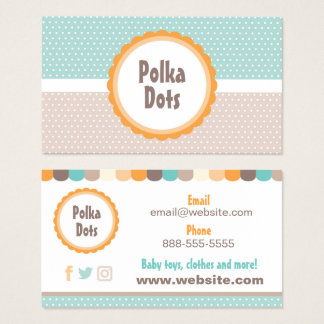 Baby Polka Dots Business Card
