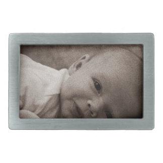 Baby portrait belt buckle