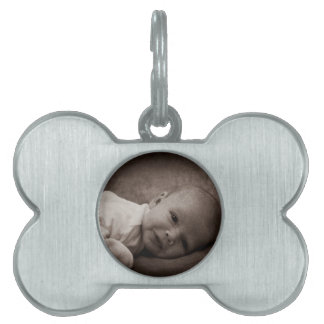Baby portrait pet ID tag