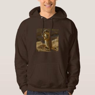 Baby prairie dog eating, Arizona Hoodie