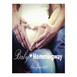 Baby Pregnancy Expecting Announcement Photo Magnet Magnetic Invitations