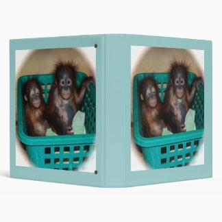 Baby Primate Sleepover Vinyl Binders