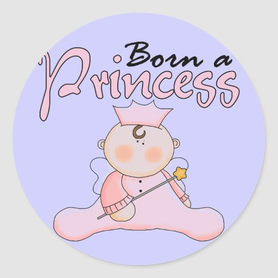 Baby  Princess Pink T-shirts and Gifts Classic Round Sticker