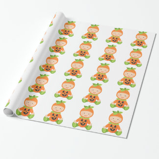 Baby Pumpkin Baby Shower Wrapping Paper