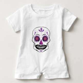 Baby Purple Candy Skull Romper