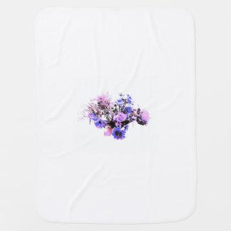 Baby purple mini flowers receiving blankets