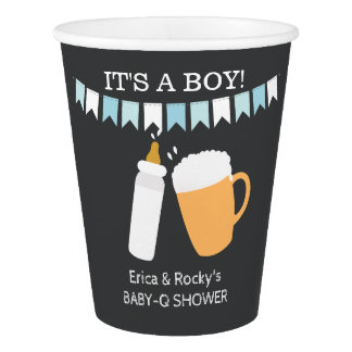 Baby-Q A Baby is Brewing Boy Paper Cups Paper Cup