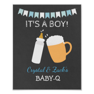 BABY-Q Beer Baby is Brewing 8x10 Sign Poster