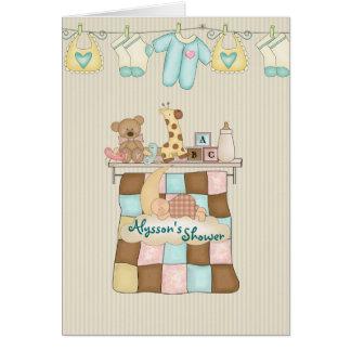 Baby Quilt Shower Invitation