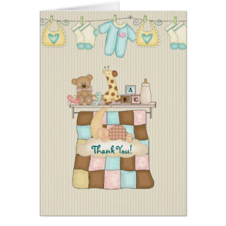 Baby Quilt Thank You with Verse Card