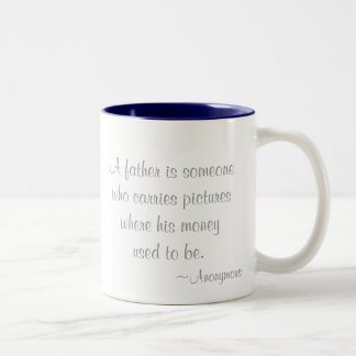 Baby Quote with optional message Two-Tone Coffee Mug