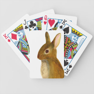 Baby Rabbit Watercolor Painting Wildlife Artwork Bicycle Playing Cards