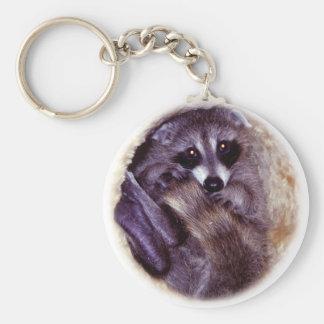 Baby Raccoon Keychain