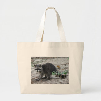 Baby Raccoon Large Tote Bag
