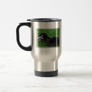 Baby Raccoons  Travel Mug