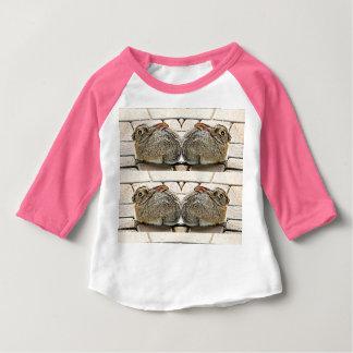 "Baby Raglan ""Double Bunny"" Tee Shirt"