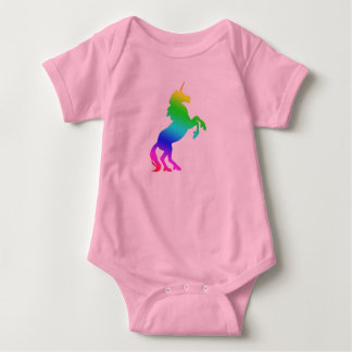 Baby Rainbow Unicorn Baby Bodysuit