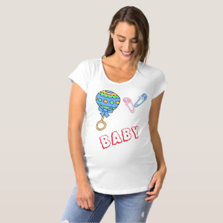 Baby Rattle and Pins Maternity T-Shirt