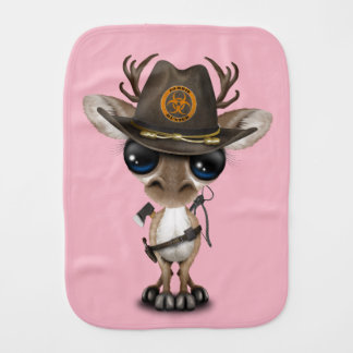 Baby Reindeer Zombie Hunter Burp Cloth