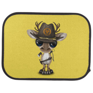 Baby Reindeer Zombie Hunter Car Mat