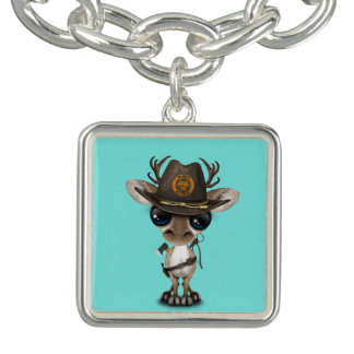 Baby Reindeer Zombie Hunter Charm Bracelet