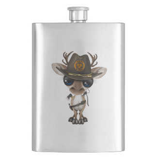 Baby Reindeer Zombie Hunter Hip Flask