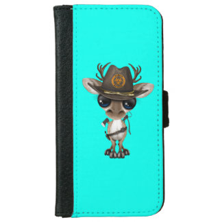 Baby Reindeer Zombie Hunter iPhone 6 Wallet Case